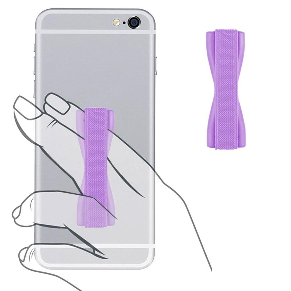 Volt 2 Ls751 - Slim Elastic Phone Grip Sticky Attachment, Purple