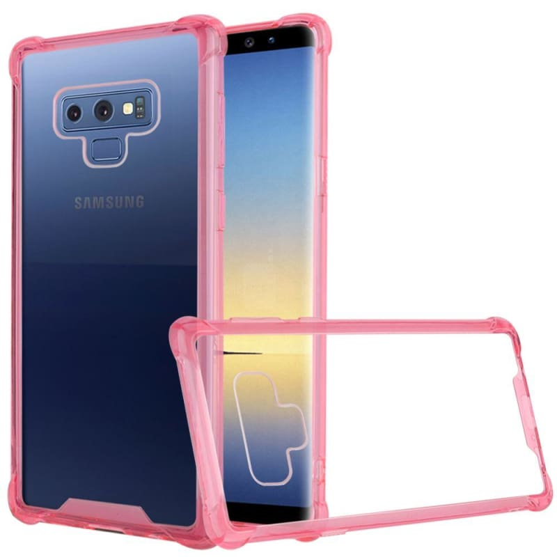 Premium Shockproof Bumper Transparent PC TPU Case, Pink for Samsung Galaxy Note 9