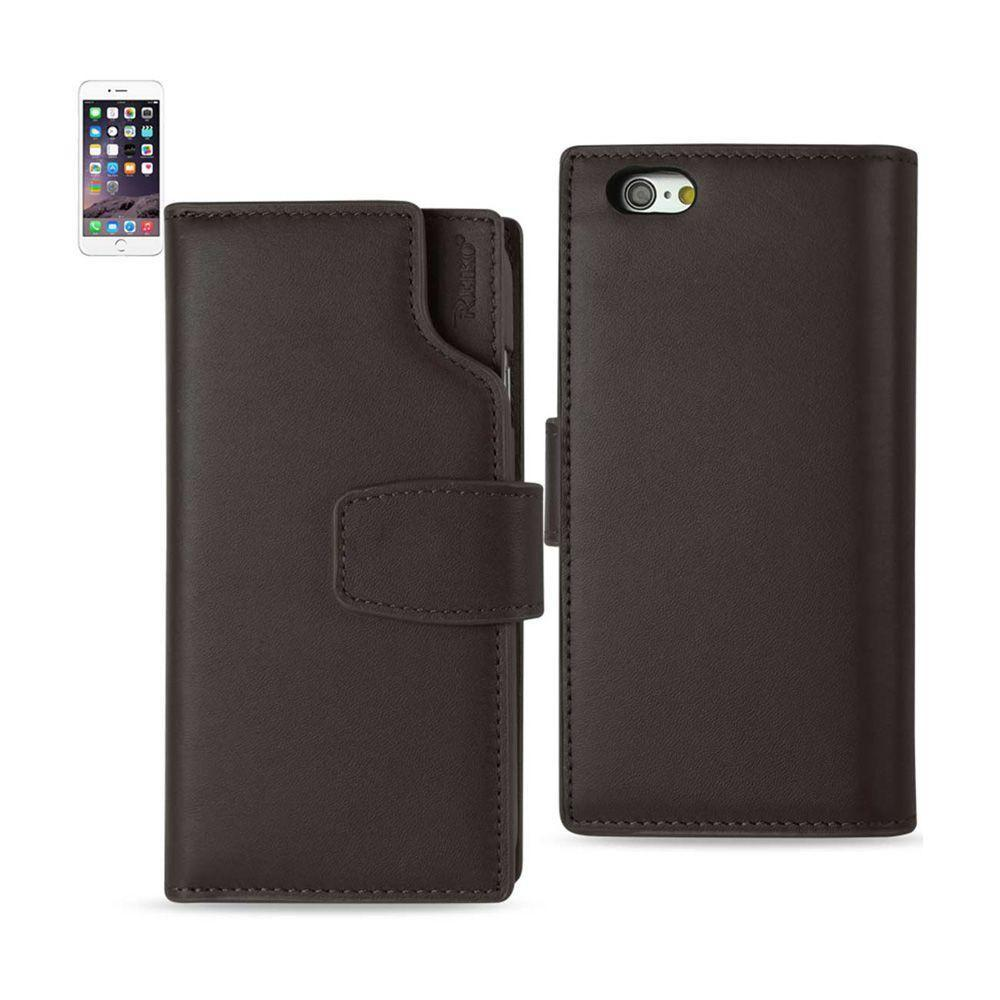 - Premium Genuine Leather Wallet Case with RFID and Open Thumb Cut, Brown for Apple iPhone 6 Plus/iPhone 6s Plus
