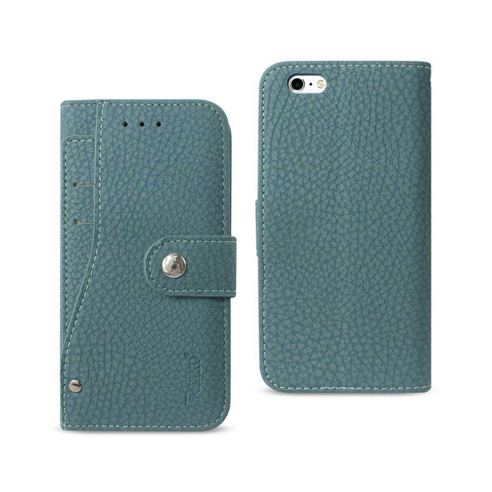 - Leather Folding Wallet Case with Slide out Card Holder, Teal Green for Apple iPhone 6/iPhone 6s