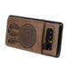Embossed Dreamcatcher Leather Case with Pull-Out Card Slot Organizer, Brown