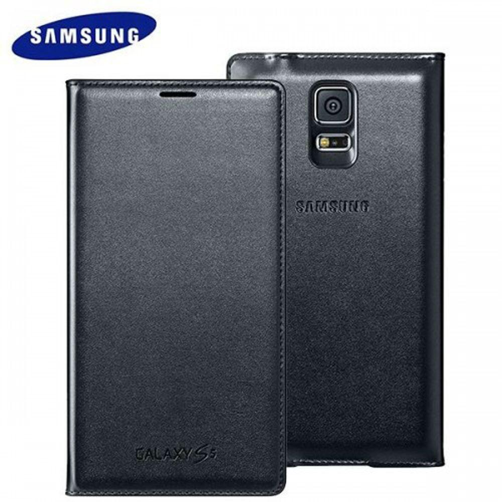 - OEM Samsung Wallet Flip Cover, Black for Samsung Galaxy S5