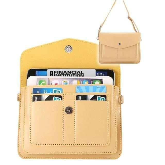 - Organizer Crossbody Bag with Card Slots, Cream