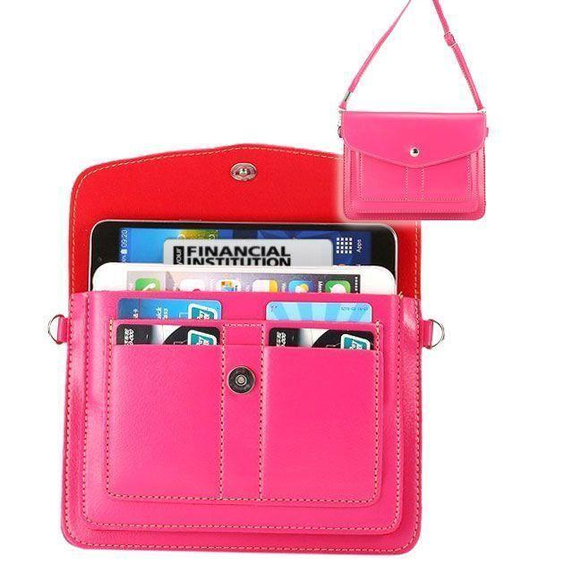 Motorola V235 - Organizer Crossbody Bag with Card Slots, Pink