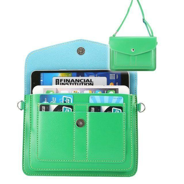 - Organizer Crossbody Bag with Card Slots, Forest Green