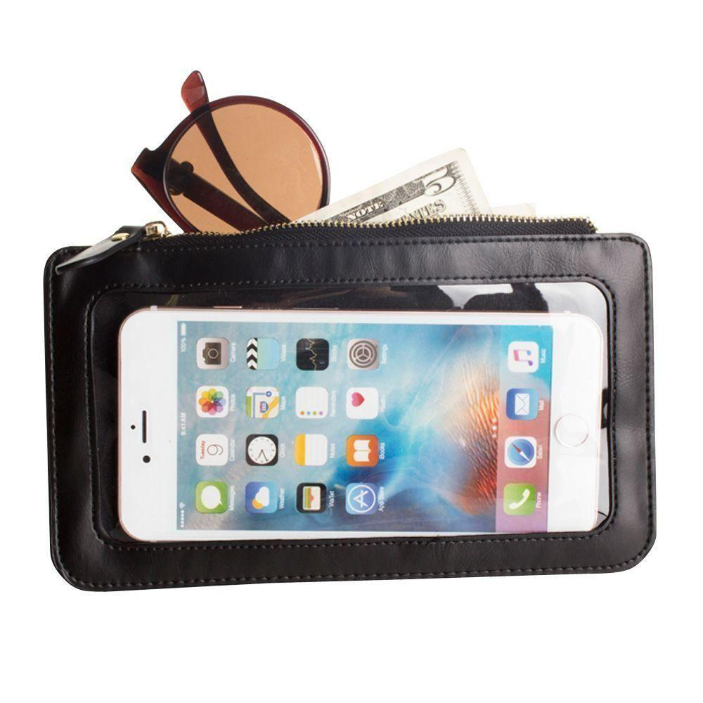 - Full Screen View Wristlet with Complete Touch Control, Black