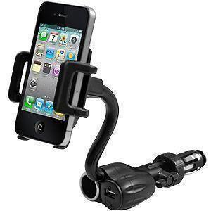 Motorola Droid 3 - Cellet AC and USB Charging Car Holder, Black
