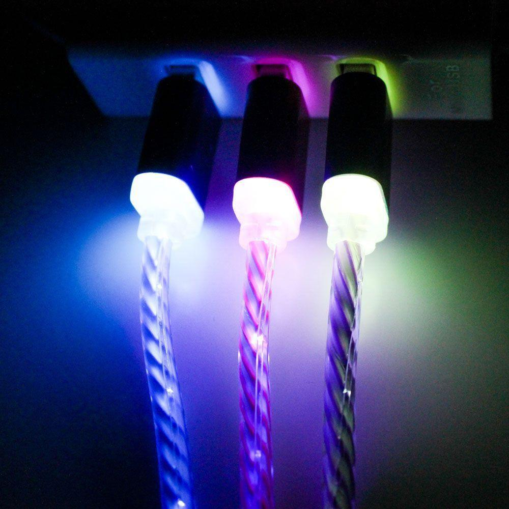 - LED Color Changing Micro USB Cable, Red