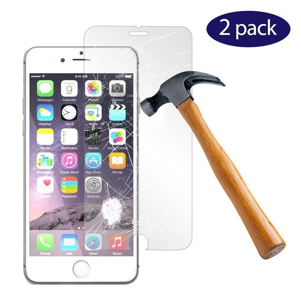 - 2-Pack Tempered Glass Screen Protector Combo, Clear for Apple iPhone 7/iPhone 8