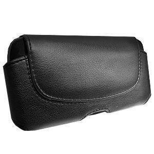 - Exquisite UniPro Horizontal Leather Case with Belt Clip, Black