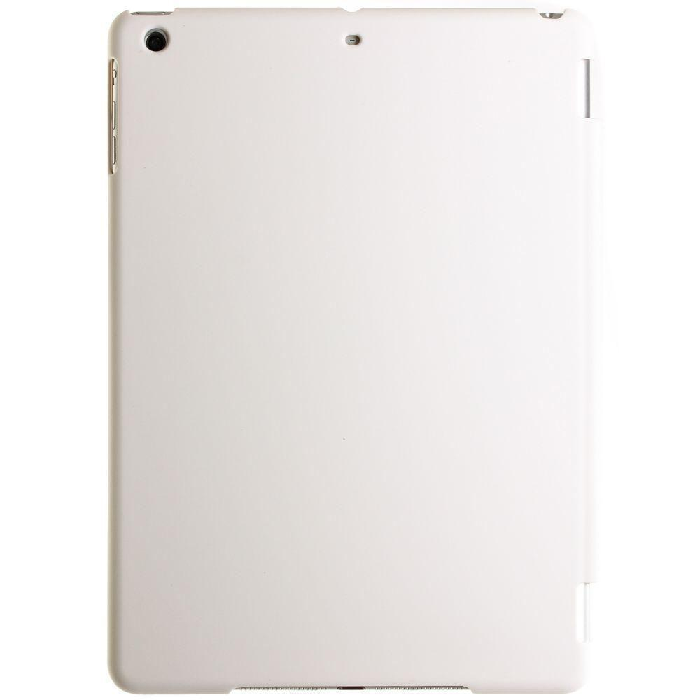 - 2-in-1 Full Body Ultra Slim Fit Hard Plastic Tablet Case, White for Apple iPad Air