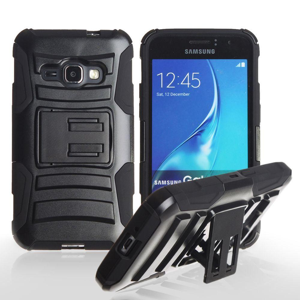 - My.Carbon 3-in-1 Rugged Case with Belt Clip Holster, Black