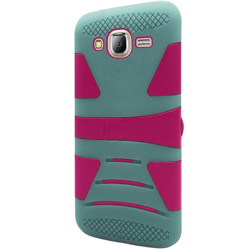 - V2 Armor Guard Rugged Case, Teal/Hot Pink