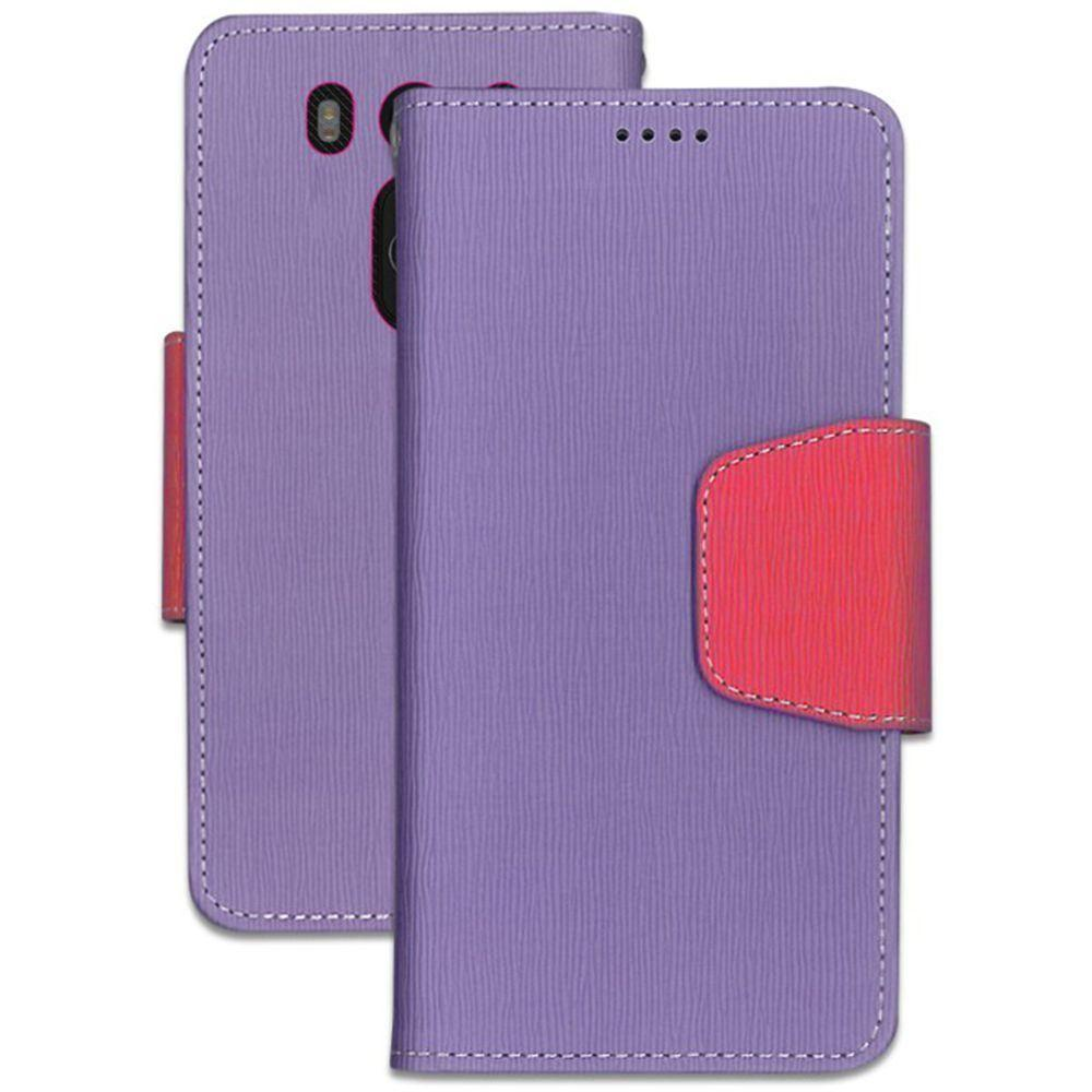 - Infolio Leather Folding Wallet Phone Case, Purple/Pink