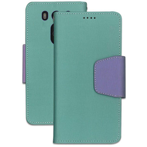 Lg V10 - Infolio Leather Folding Wallet Phone Case, Mint/Purple
