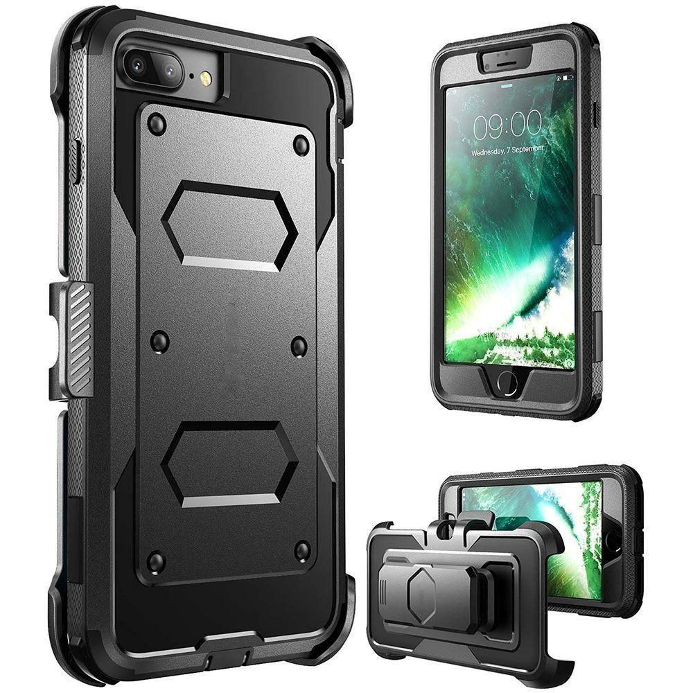 - Triple Protection Rugged Case and Holster Shell Combo, Black for Apple iPhone 7/iPhone 8