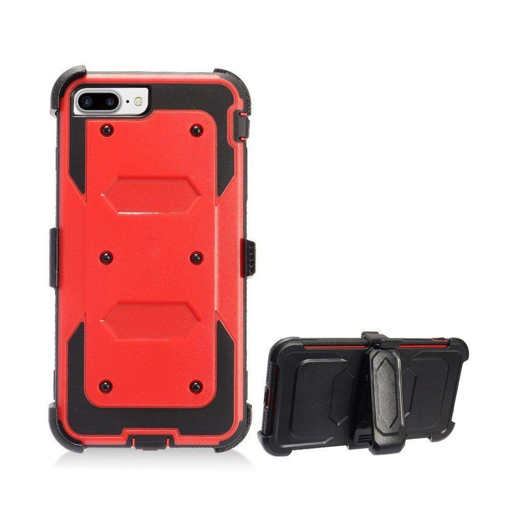 - Triple Protection Rugged Case and Holster Shell Combo, Red/Black for Apple iPhone 6/iPhone 6s