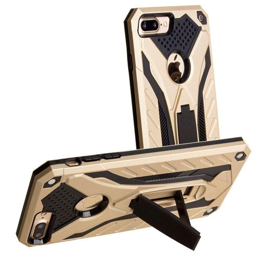 Apple Iphone 8 Plus - Armor Shockproof Hybrid Case with Stand, Gold for Apple iPhone 7 Plus/iPhone 8 Plus