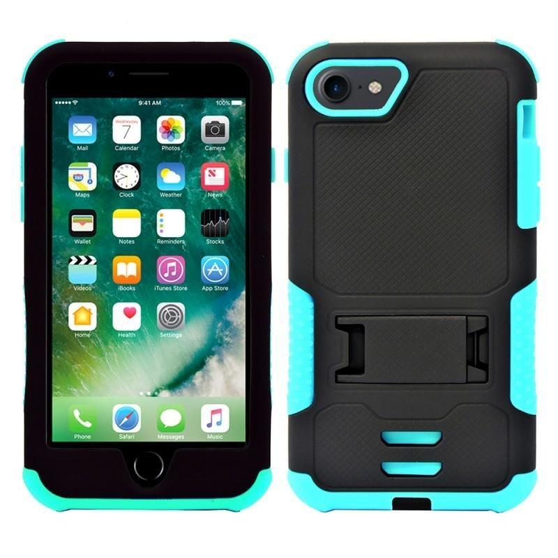 - Mantas Heavy-Duty Rugged Case with Stand, Teal/Black for Apple iPhone 7/iPhone 8