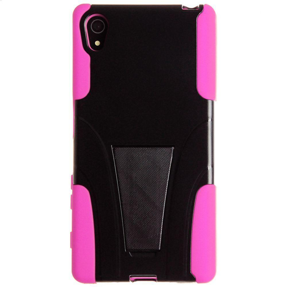 - Dual Layer Rugged Case, Black/Pink
