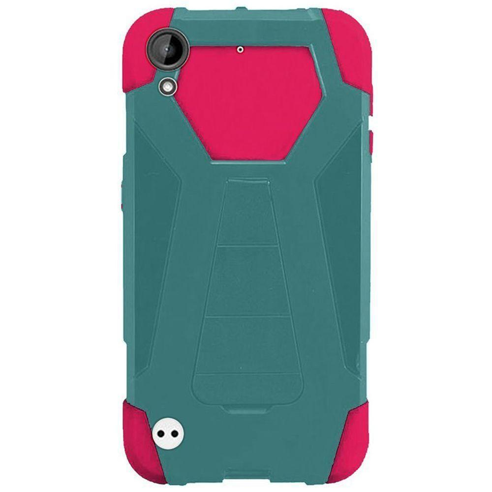 - Mighty Dual Layer Rugged Case, Teal/Hot Pink