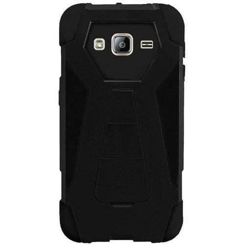 Samsung Galaxy J3 2016 - Mighty Dual Layer Rugged Case, Black