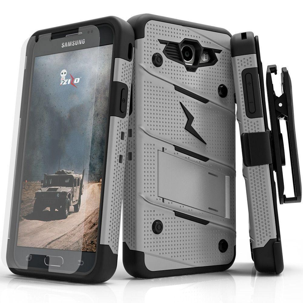 - Bolt Heavy-Duty Rugged Case, Holster and Screen Combo, Dessert Tan/Camo Green