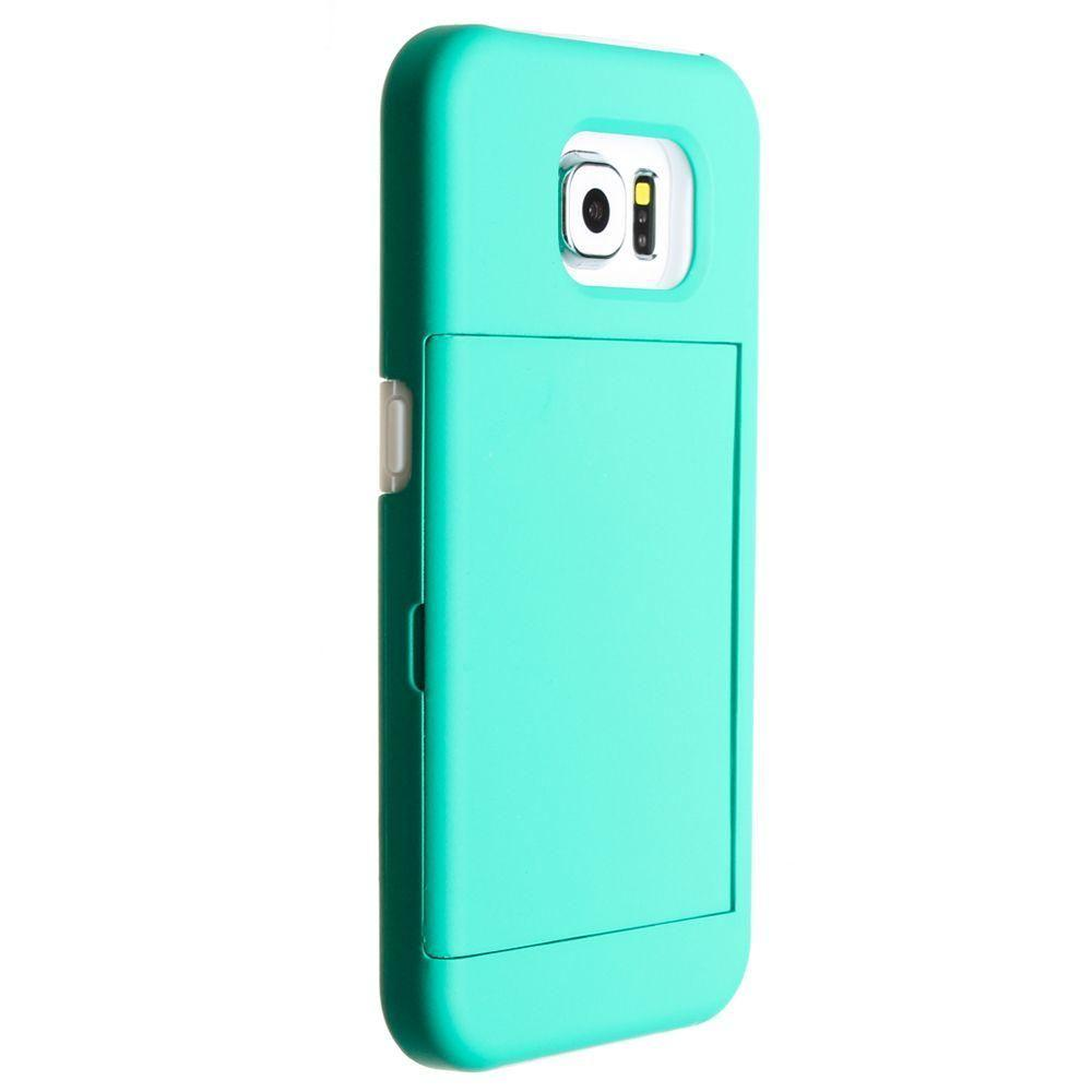 - SafeStoraway Credit Card Hybrid Rugged Case, Teal/White for Galaxy S6