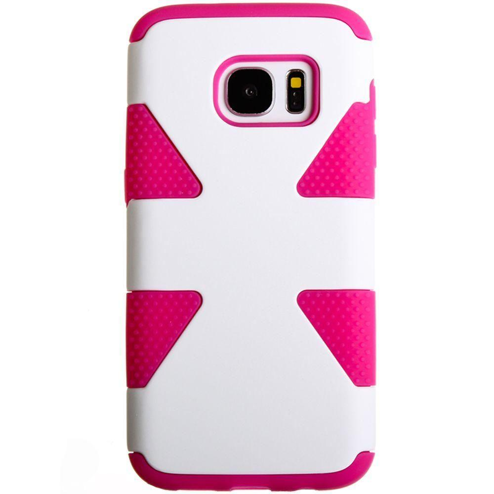- Dynamic Rugged Case, White/Hot Pink for Samsung Galaxy S7