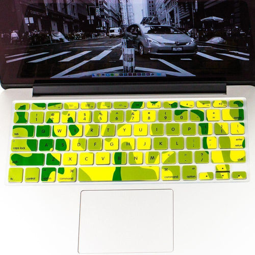 Apple Macbook 12 Inch - Camouflage Design Keyboard Film Cover, Green