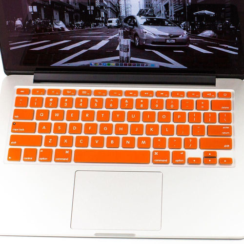 Apple Macbook Pro 15 4 Inch - Colored Keyboard Film Cover, Orange