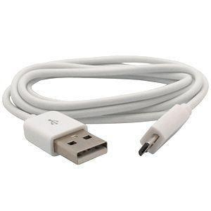Kyocera Hydro Xtrm - Micro 3ft USB Charge & Sync Cable, White
