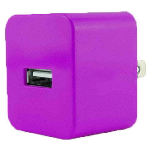 Zte Avid 4g - Value Series .5 amp 500 mAh USB Travel Charger Adapter, Purple
