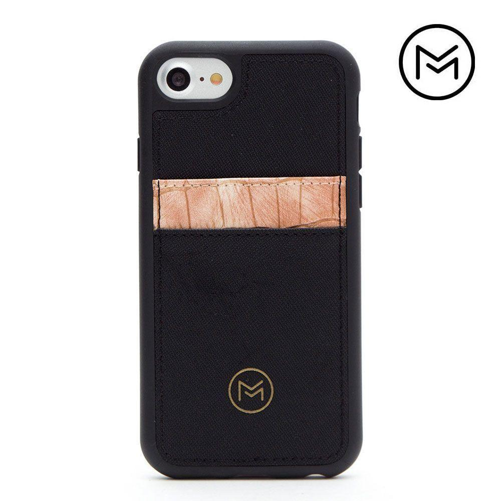 - Limited Edition Mobovida Acacia Card Case, Rose/Black for Apple iPhone 7/iPhone 8