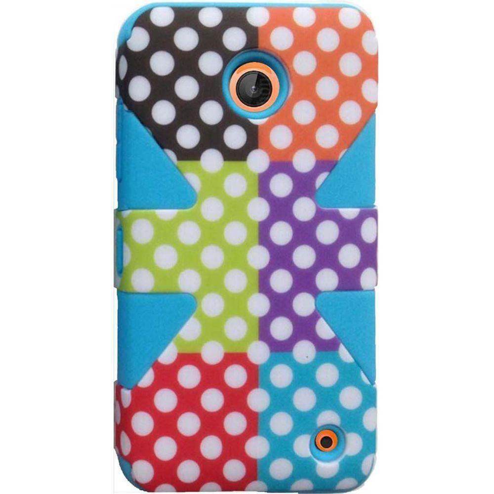 - Polka Dots Dynamic Rugged Case, Multi-Color/Blue