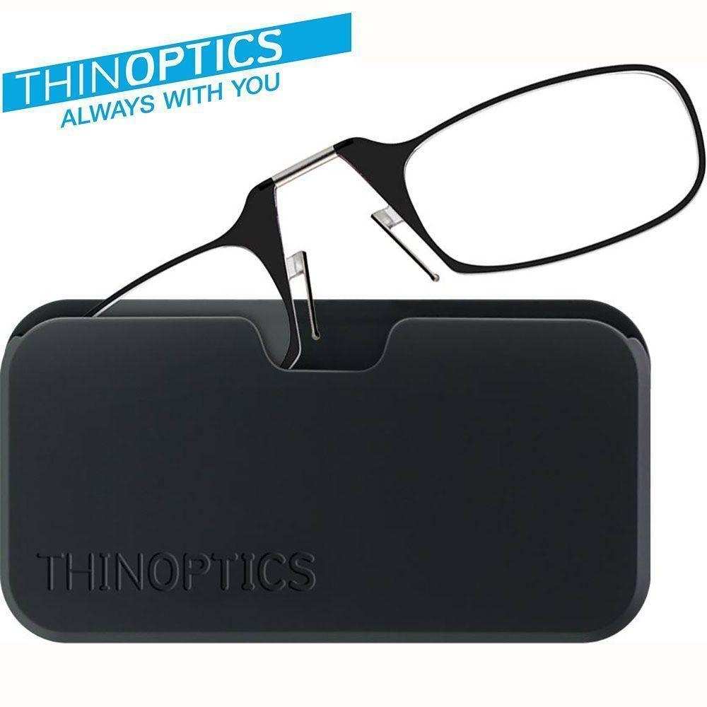 - Original THINOPTICS Reading Glasses with Universal Pod +1.50 strength covers +1.25-1.75, Black