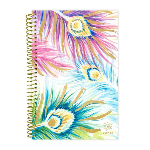 Clearance Accessories - 2018 Peacock Feathers Fashion Daily Planner, Multi-Color