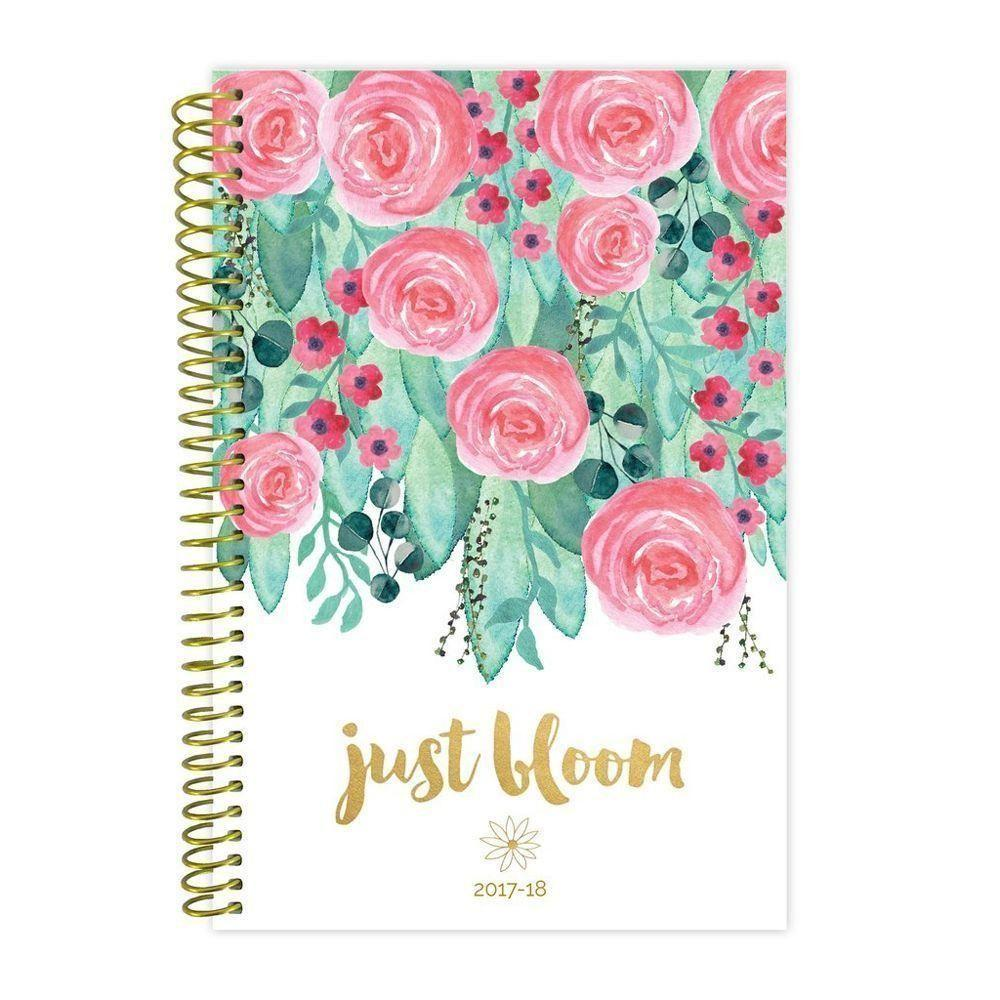 - 2018 Just Bloom Fashion Daily Planner, Multi-Color
