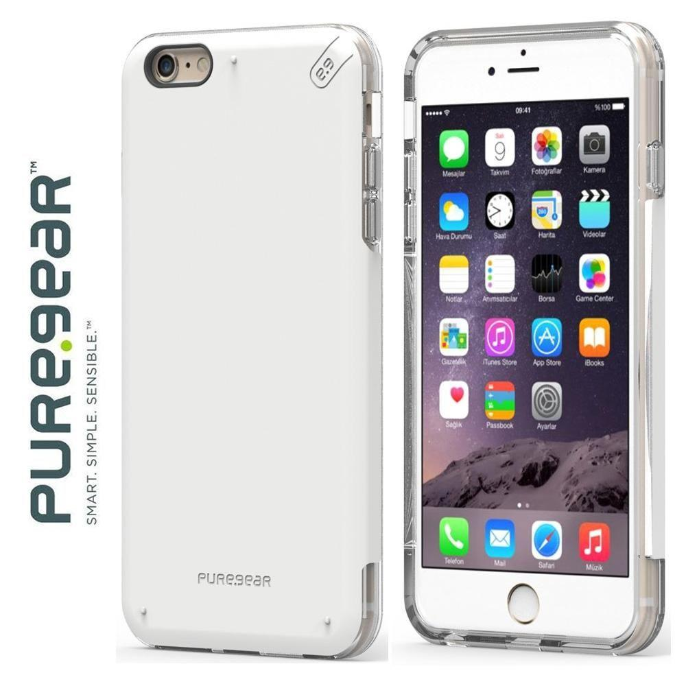 reputable site 26706 5f2f2 PureGear DualTek Pro Rugged Case, White/Clear for Apple iPhone 6  Plus/iPhone 6s Plus