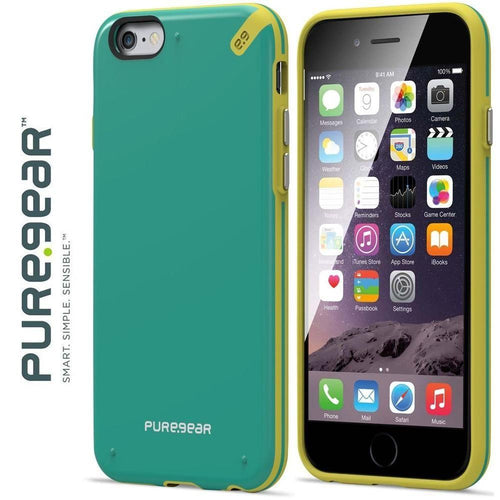 Apple Iphone 6 Plus - PureGear Slim Shell Rugged Case, Citrus Mint for Apple iPhone 6 Plus/iPhone 6s Plus