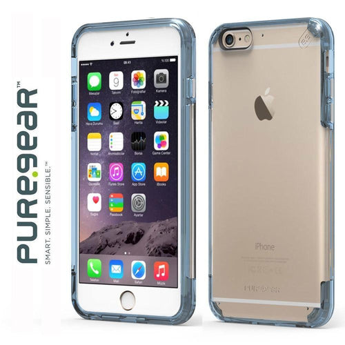 Apple Iphone 6 Plus - Original PureGear Plus Slim Shell Pro Rugged Case, Clear/Blue for Apple iPhone 6 Plus/iPhone 6s Plus