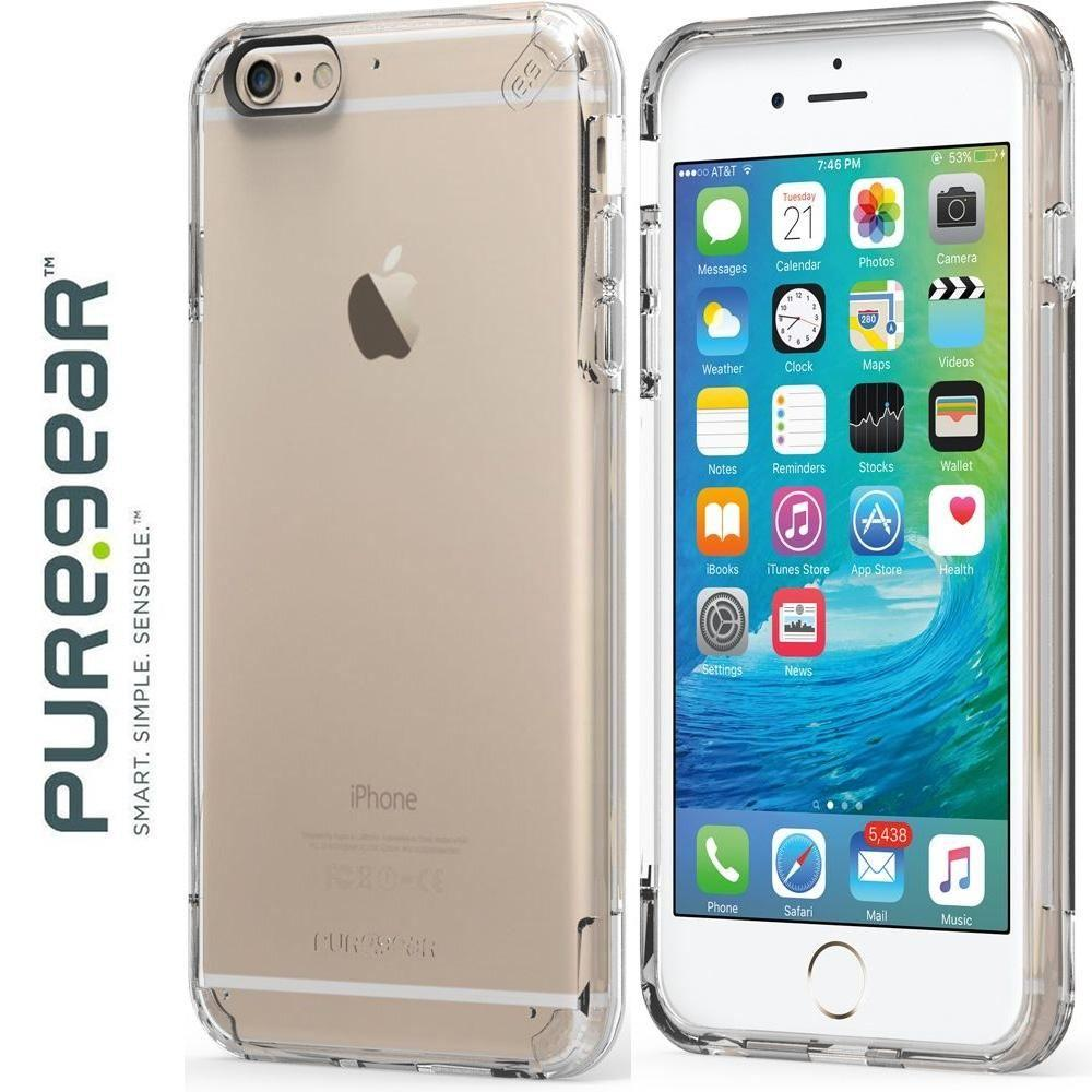 Iphone 6 Plus - PureGear Slim Shell Pro Rugged Case, Clear for Apple iPhone 6 Plus/iPhone 6s Plus