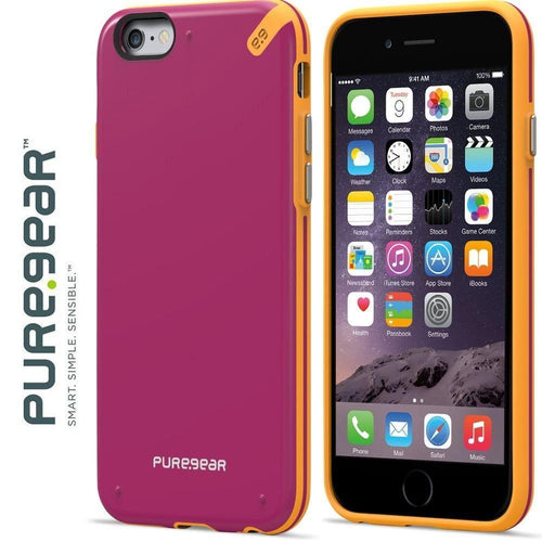 Apple Iphone 6 Plus - PureGear Slim Shell Rugged Case, Sunset Pink for Apple iPhone 6 Plus/iPhone 6s Plus