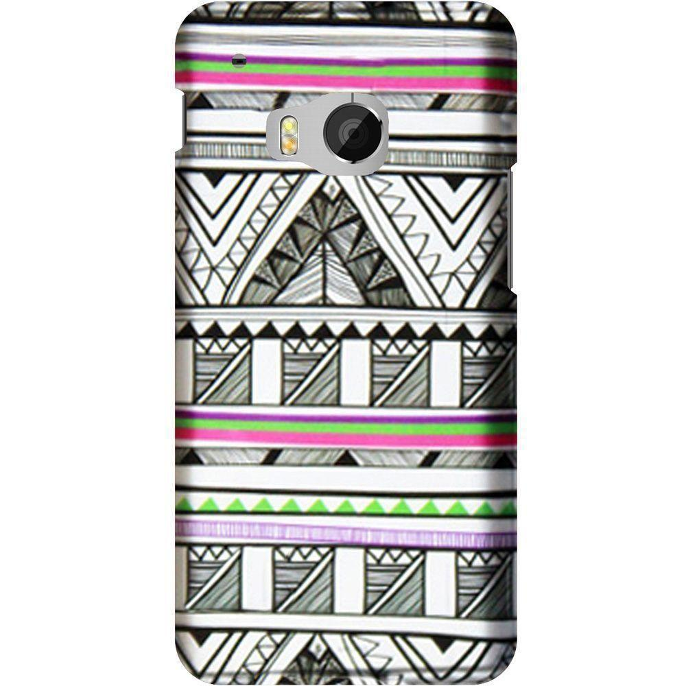 - Aztec Tribal Print Slim Fit Hard Plastic Case, Black/White