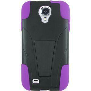 Samsung Galaxy S4 - Dual Layer Rugged Case, Black/Purple for Samsung Galaxy S4