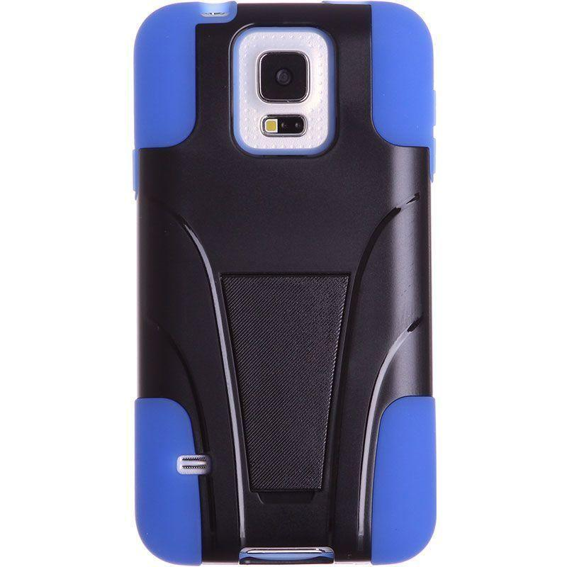 - Dual Layer Rugged Case, Black/Blue for Samsung Galaxy S5