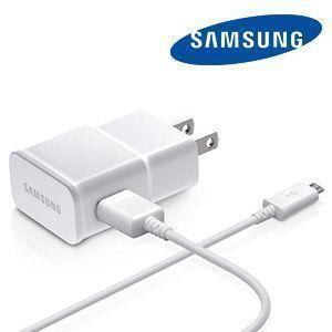 Motorola Admiral - Original Samsung 2Amp OEM Micro USB Wall Charger and Cable, White