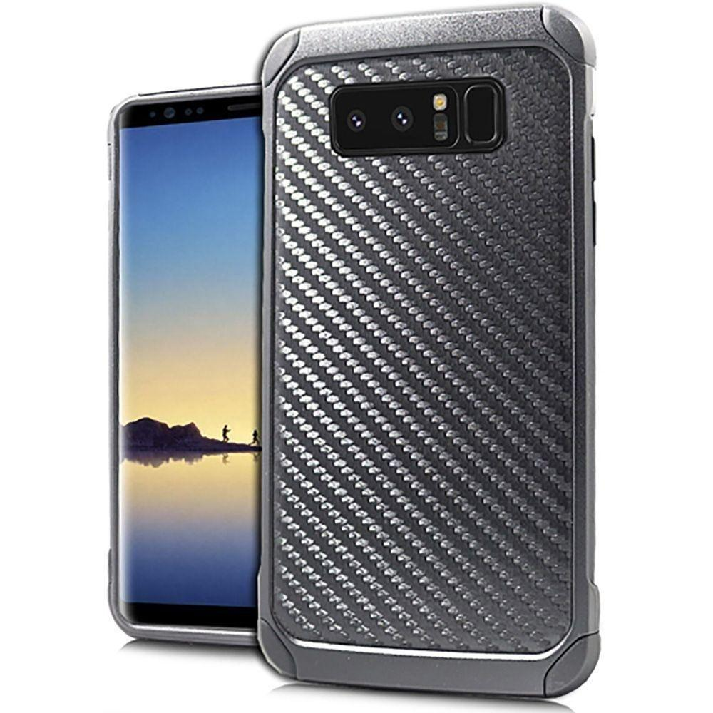 - Carbon Fiber Print Anti-Shock Hybrid Rugged Case, Black for Samsung Galaxy Note 8