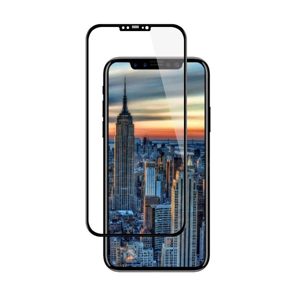- Full Edge Colored Tempered Glass Screen Protector, Black for Apple iPhone X