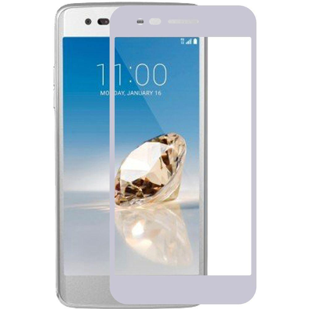- Full Edge Colored Tempered Glass Screen Protector, Silver